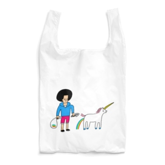 花くまゆうさくのユニコーンと散歩 Reusable Bag
