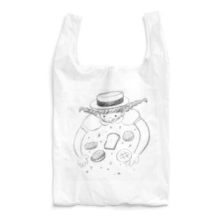 パン好き少女は夢の中 Reusable Bag