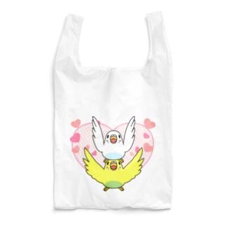 ラブリーセキセイインコ【まめるりはことり】 Reusable Bag