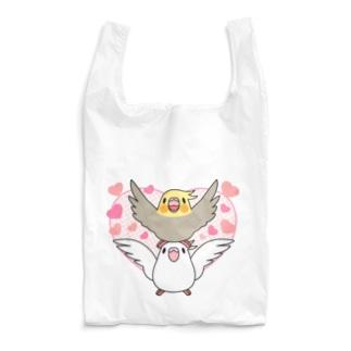 ラブリーオカメインコ【まめるりはことり】 Reusable Bag