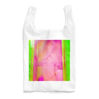 neon light starsの桃色シャワー/バナナグリーンドア Reusable Bag