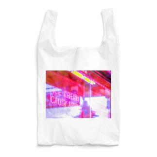 APPLE NEON 横 Reusable Bag