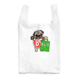 PUG-パグ-ぱぐ パグ グッズ エコ マイバック Reusable Bag