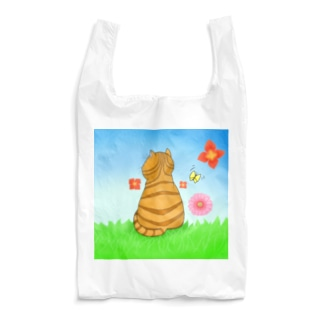 野原のトラ猫さん Reusable Bag