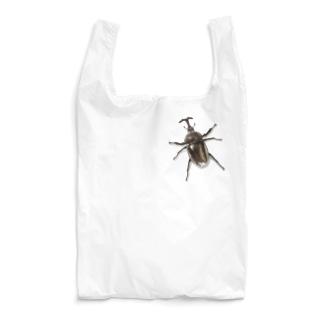 カブトムシついてるよ! Reusable Bag