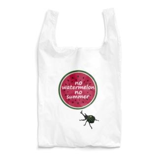 スイカとかぶと虫 Reusable Bag