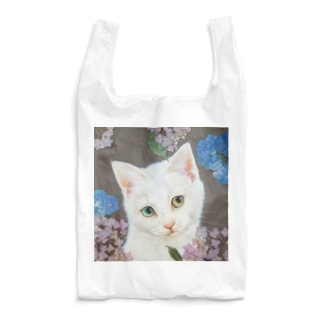 紫陽花としろねこ Reusable Bag