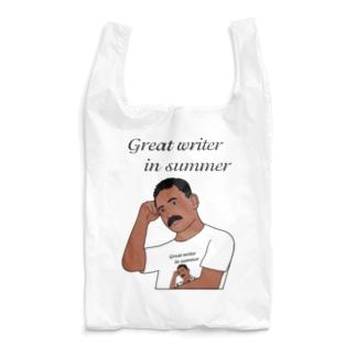 夏の文豪Tシャツを着た夏の文豪 Reusable Bag
