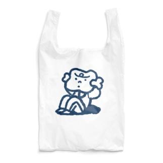 腹筋するマンガ肉(シンプル) Reusable Bag
