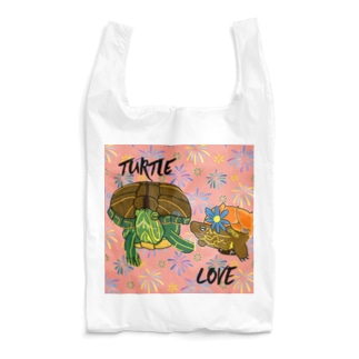 アカミミガメとクサガメちゃん カラフル Reusable Bag