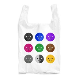 カラフルなくろがお🏳️🌈 Reusable Bag