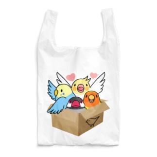 拾ってくださいインコ【まめるりはことり】 Reusable Bag