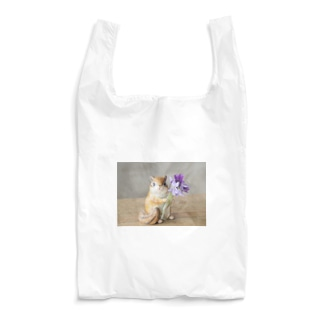 シマリスとお花(スミレ) Reusable Bag