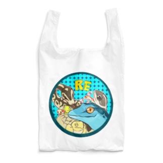 爬虫類いろいろ Reusable Bag