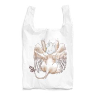 しがみつきグリフォン(色合いふんわり) Reusable Bag