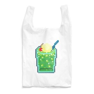 ドッド画メロンクリームソーダ Reusable Bag