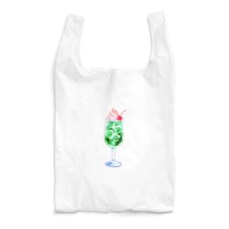 ピンクアイスとメロンソーダ Reusable Bag