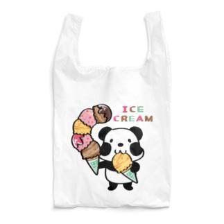 CT54ズレぱんだちゃん アイスを食べよう_bs Reusable Bag