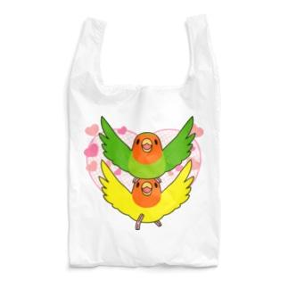 ラブリーコザクラインコ【まめるりはことり】 Reusable Bag