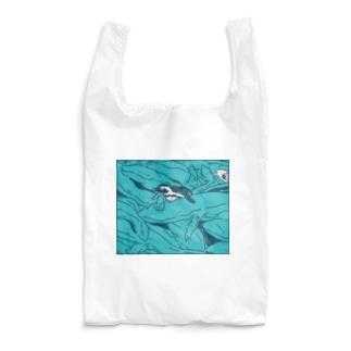 ナイロドノのぎゅうぎゅうオオサンショウウオ ブルー Reusable Bag