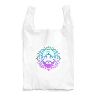 曼荼羅風ターバンさん2 Reusable Bag