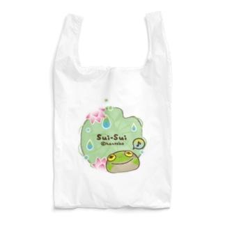 _---_のカエルのスイスイ 蓮 Reusable Bag