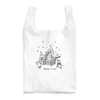 インコさんとキャンプファイヤー Reusable Bag