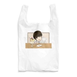 失恋プリンパフェ Reusable Bag