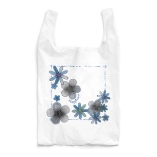 花*モノクロ♪ Reusable Bag