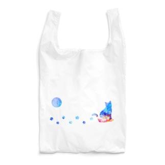 月猫-アルコールインクアート Reusable Bag
