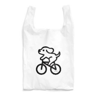 わんこ自転車にのる Reusable Bag