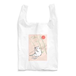 日本画風の猫 Reusable Bag
