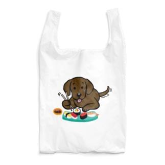お寿司大好きチョコラブ Reusable Bag