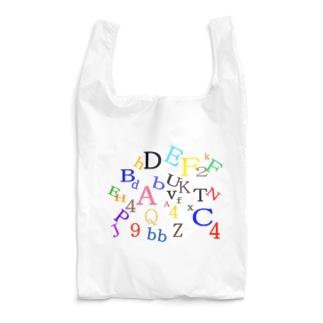 アルファベットと数字の洪水3 Reusable Bag