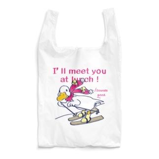 CT75あひるのおひるさんのスキーA Reusable Bag