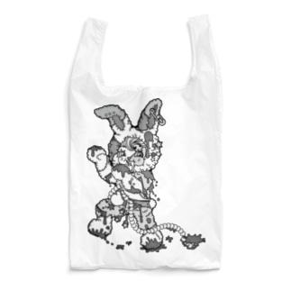 うさぎのラビ★スリラーハロウィン-ゾンビ-モノクロ Reusable Bag