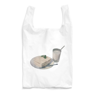 white lunch Reusable Bag