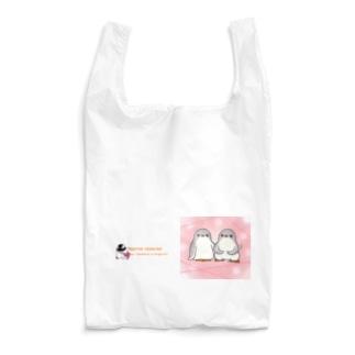 ふたごのジェンツーペンギン(キラキラロゴつき) Reusable Bag