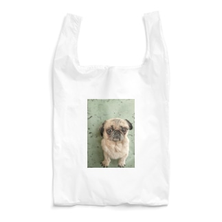 羊毛フェルトのふわふわパグ犬 Reusable Bag