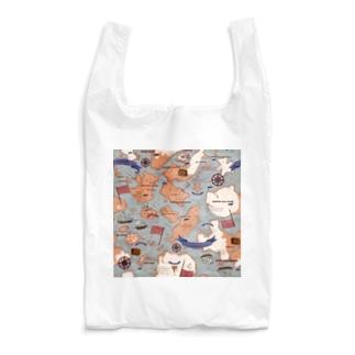アンティークマップ(ブルーフラッグ) Reusable Bag