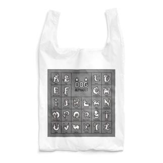 DOG alphabet-四角 Reusable Bag