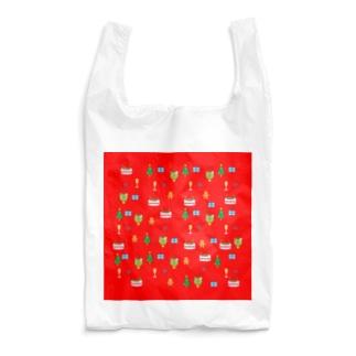 かえるさんのクリスマス(赤) Reusable Bag