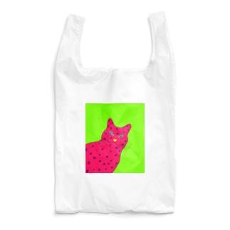 変形水玉ねこ Reusable Bag