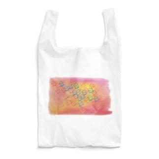 カラフルなイカの群れグッズ Reusable Bag