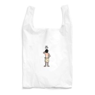 後ろ姿シリーズ:風呂上がりに何か飲む奴 Reusable Bag