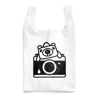カメラに乗ってるカメラクマオ(黒) Reusable Bag