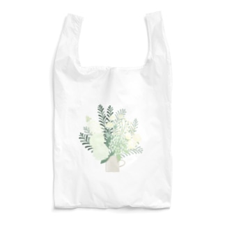 white flower bouquet Reusable Bag
