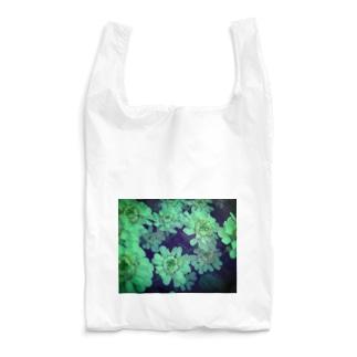 白かったのに緑にされた花 Reusable Bag