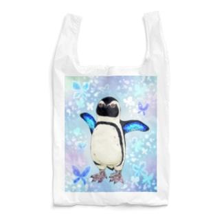 ケープペンギン「ちょうちょ追っかけてたの」(Blue) Reusable Bag