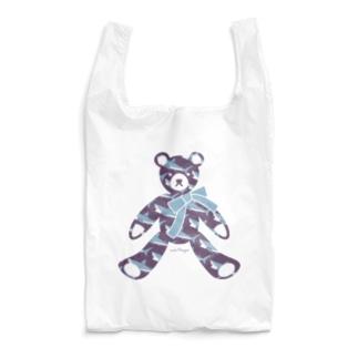サメ好きのためのテディベア  Water Purple Reusable Bag